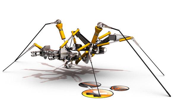 3d model mechanical spider
