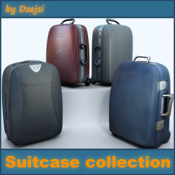 case suitcase suit 3d 3ds