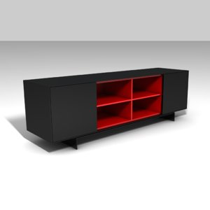 3d model of furniture console