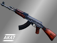 ak-47 47 rifle 3d model
