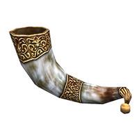 3d horn powderhorn model
