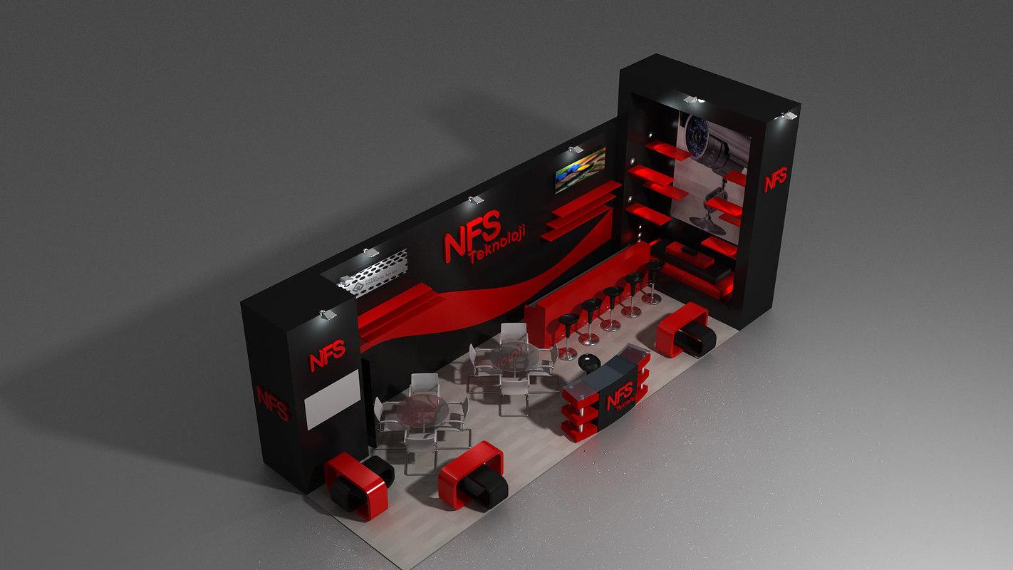 3d fair stand exhibition shop