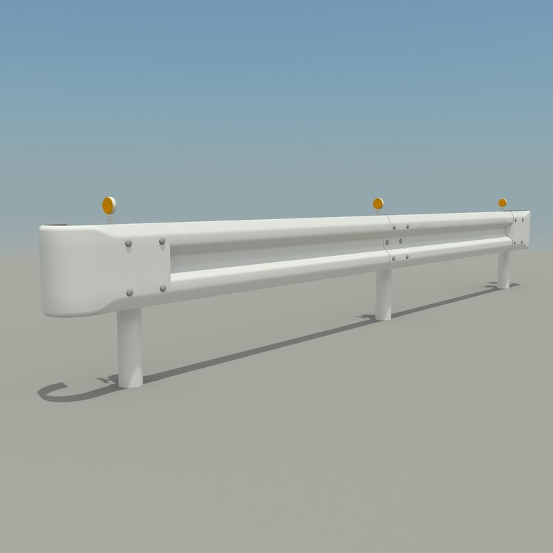 guard rail 3d 3ds