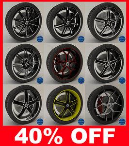 3d asanti 160 series wheels