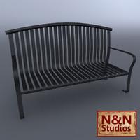 bench metal 3d model