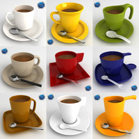 coffee cups 3d model