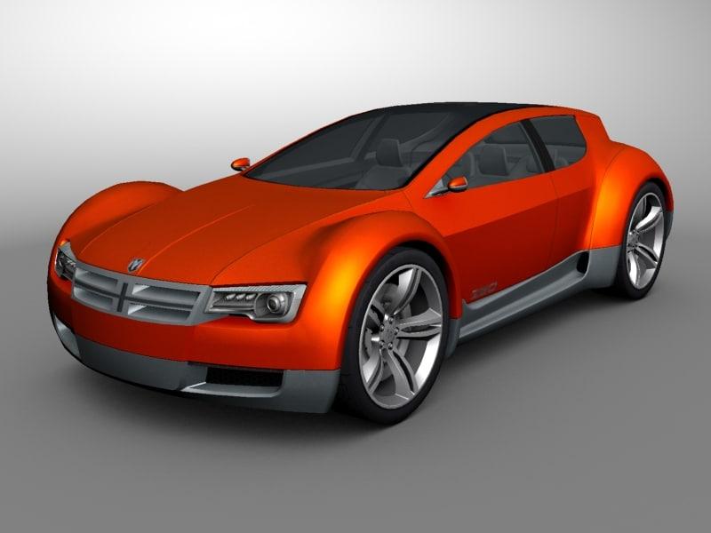3d model of dodge zeo concept car