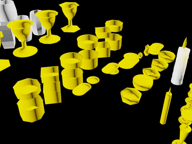 3d plates cups pots