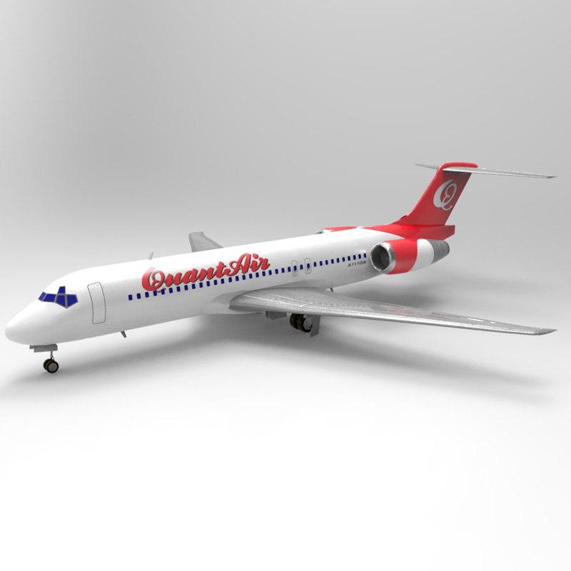 717 airliner 3d 3ds