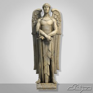 3d sculpture angel
