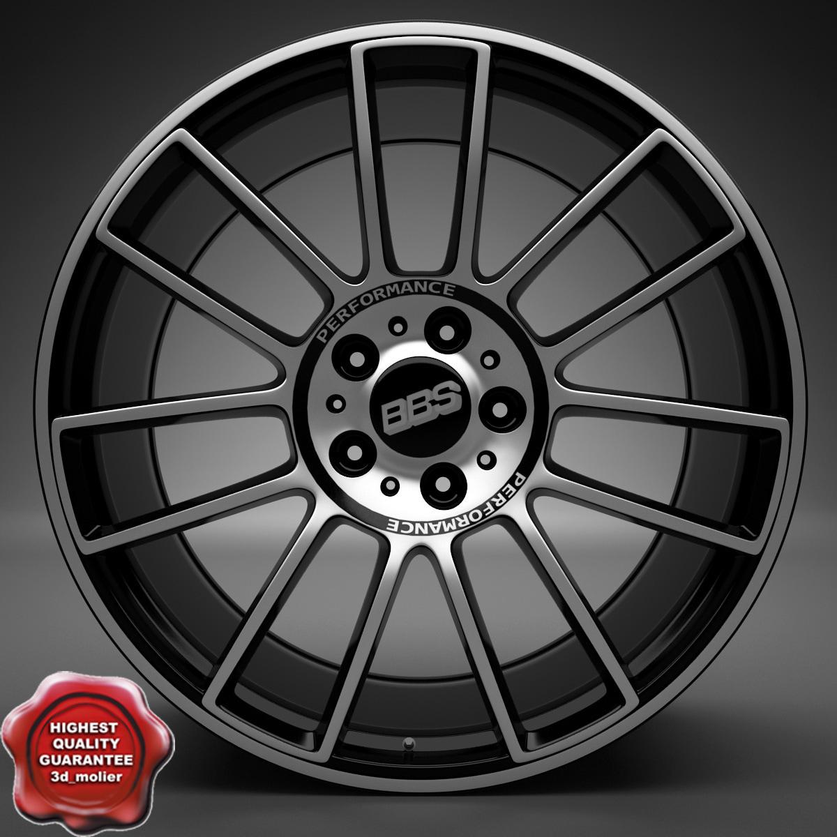 auto wheel trim bbs c4d