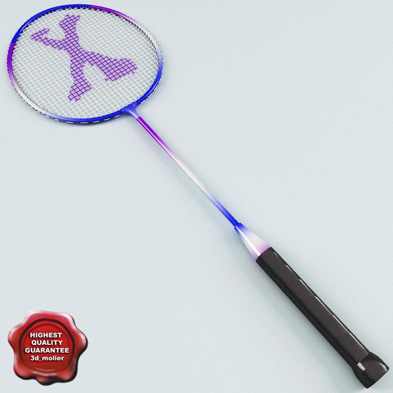 3d model of badminton racket v2