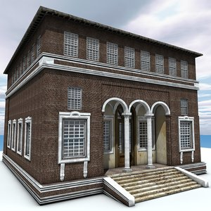building old house 3d 3ds