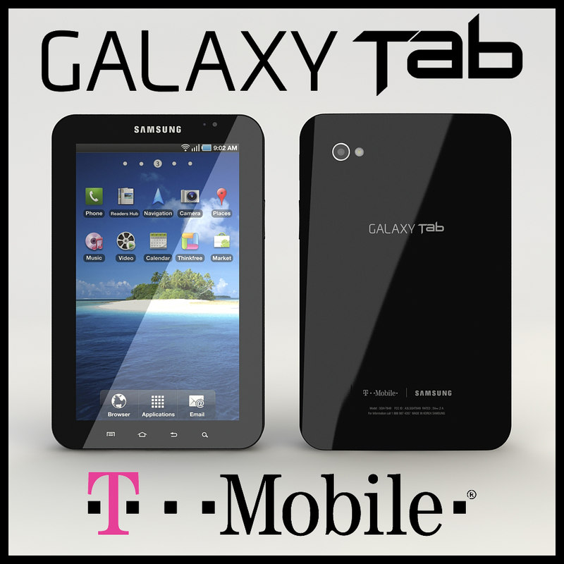 3d model of samsung galaxy tab t-mobile