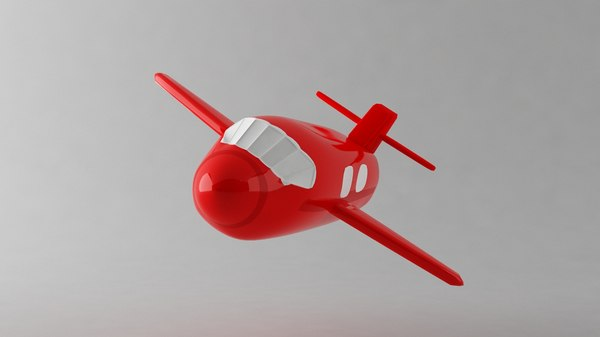 small airplane toy 3d obj