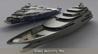 3d mega yacht 140m
