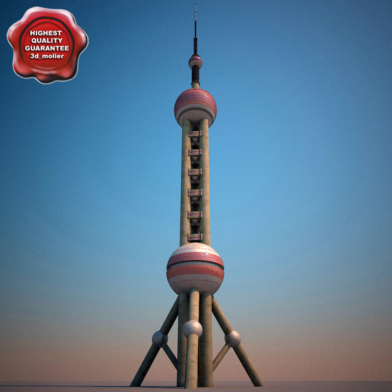 3dsmax oriental pearl tv tower