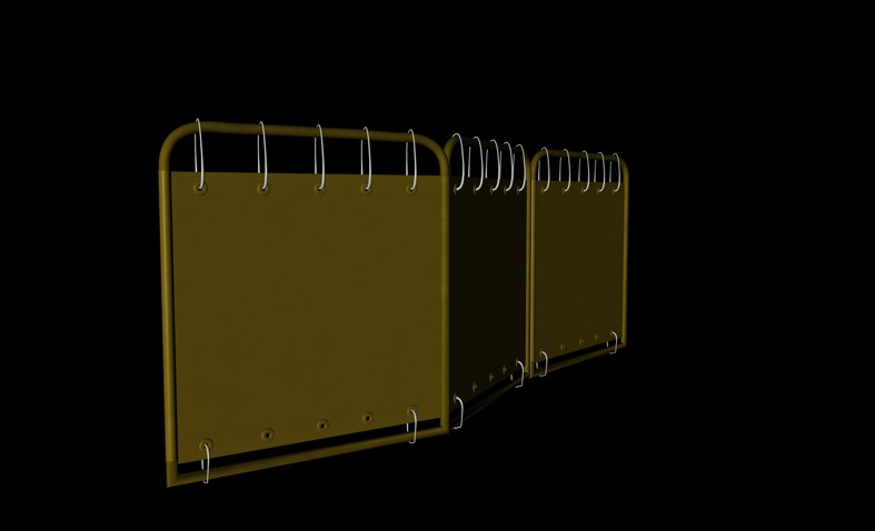 construction barrier 3d model