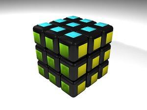 rubik cube c4d free
