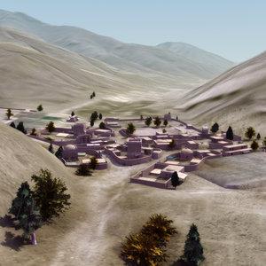 3d afghan village