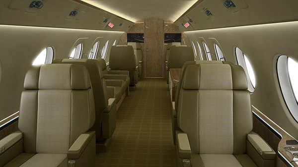 3d model single seat corporate jets