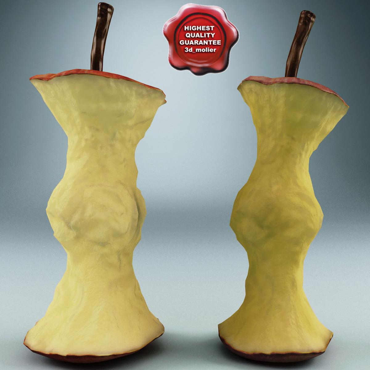 stub apples 3d model
