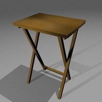 Tray Table Low Poly