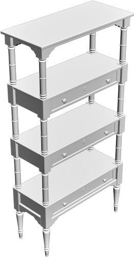 home shelving 3d model