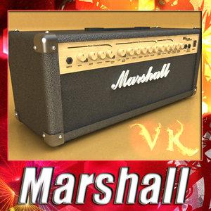 3d model of marshall amplifier -