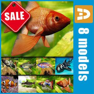 fish aquarium 3d 3ds