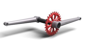 3ds max bike cranks