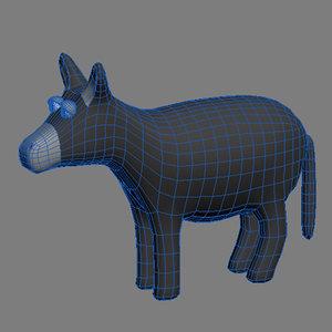 3d donkey animals model