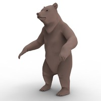 3d model grizzly bear