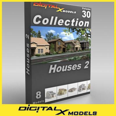 subdivision houses - obj