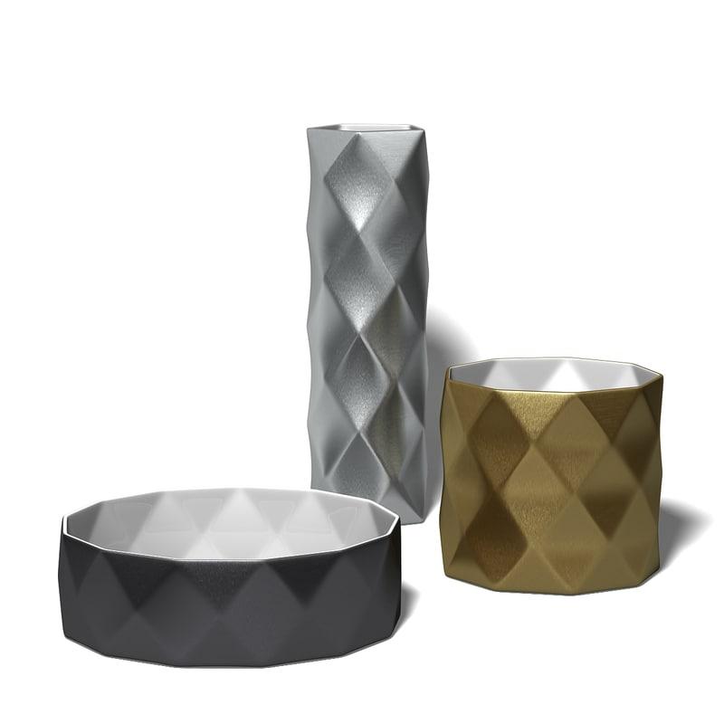 vase joker b italia 3d max