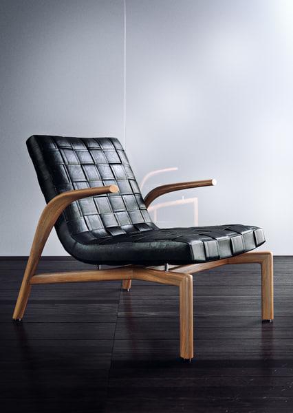 minotti pasmore loungechair 3d model