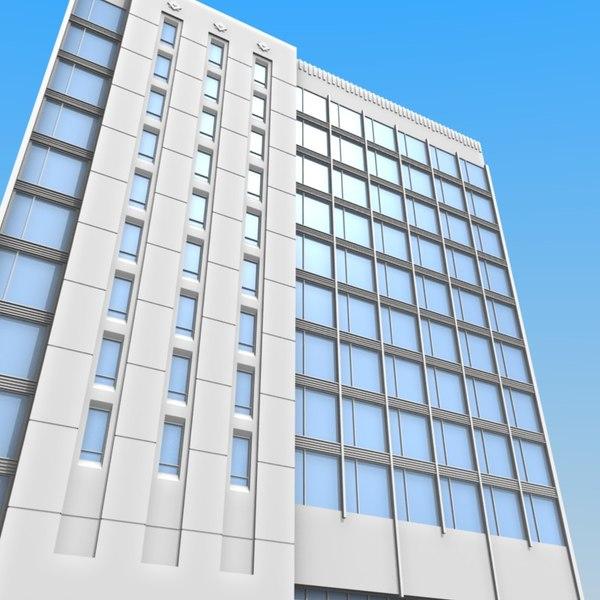 3ds modern office block