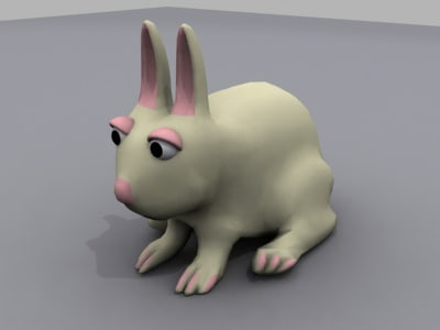 rabbit animals 3d max