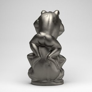statue frogs 3d 3ds