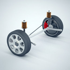 rear beam axle suspension 3d model