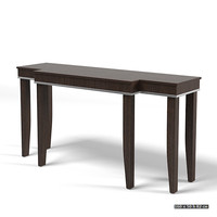 smania aster console table modern contemporary wenge