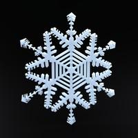 snowflake christmas symbols obj