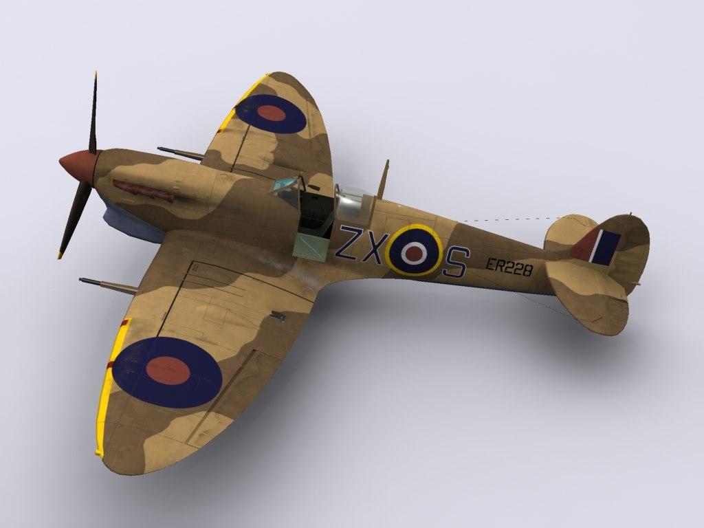 supermarine spitfire fighter 145 3d 3ds
