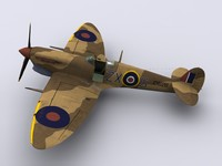 supermarine spitfire fighter 145 3d 3ds