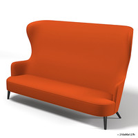 tom dixon wingback sofa wing  modern contemporary high back tall designers accent