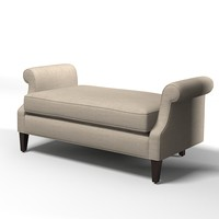 traditional ottoman bench 3ds