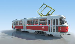 tram tatra t3 - 3d model