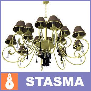 3d baga luster lights