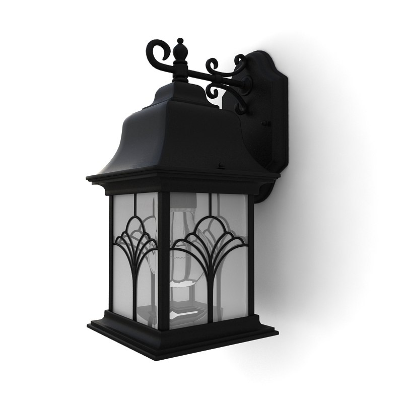 Garden Lamp 3d Model: 3ds Max Outdoor Wall Lantern 02