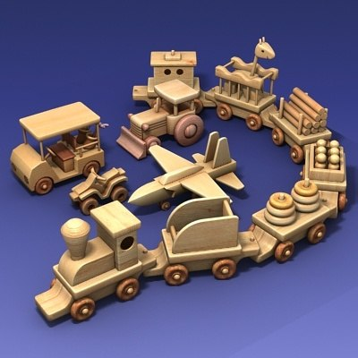 set wooden toys max